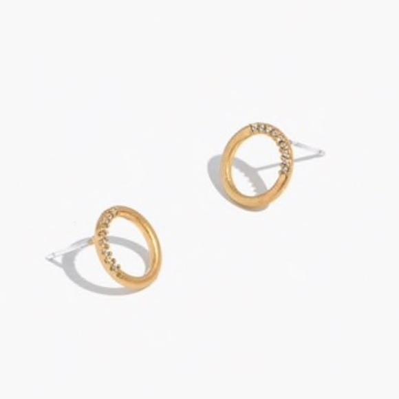 63b5d887d Madewell Jewelry | Pave Circle Stud Earring | Poshmark
